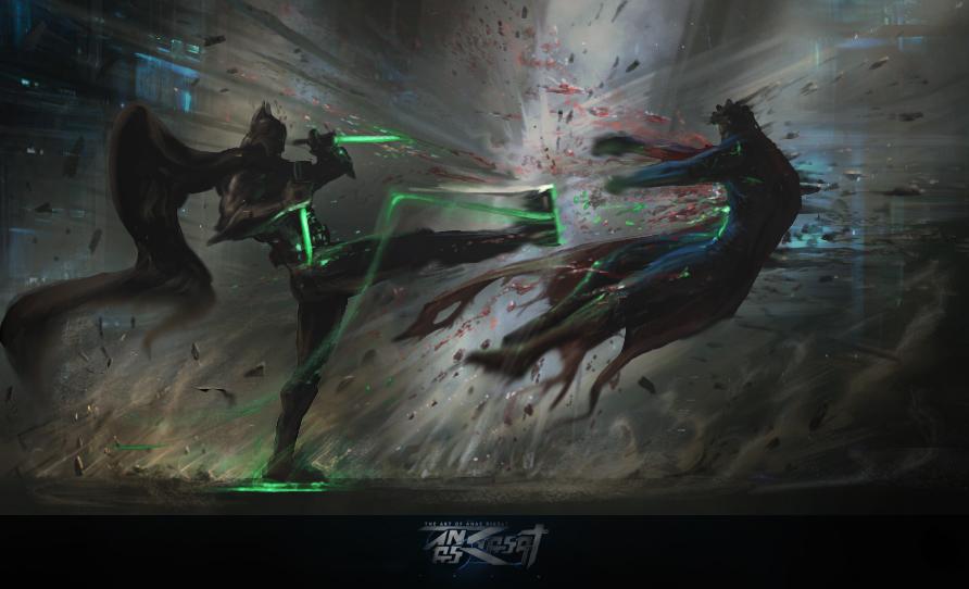 batman vs alien by - photo #2