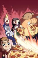 Bravest Warriors + Pizza + Convention Exclusive = by jasonhohoho