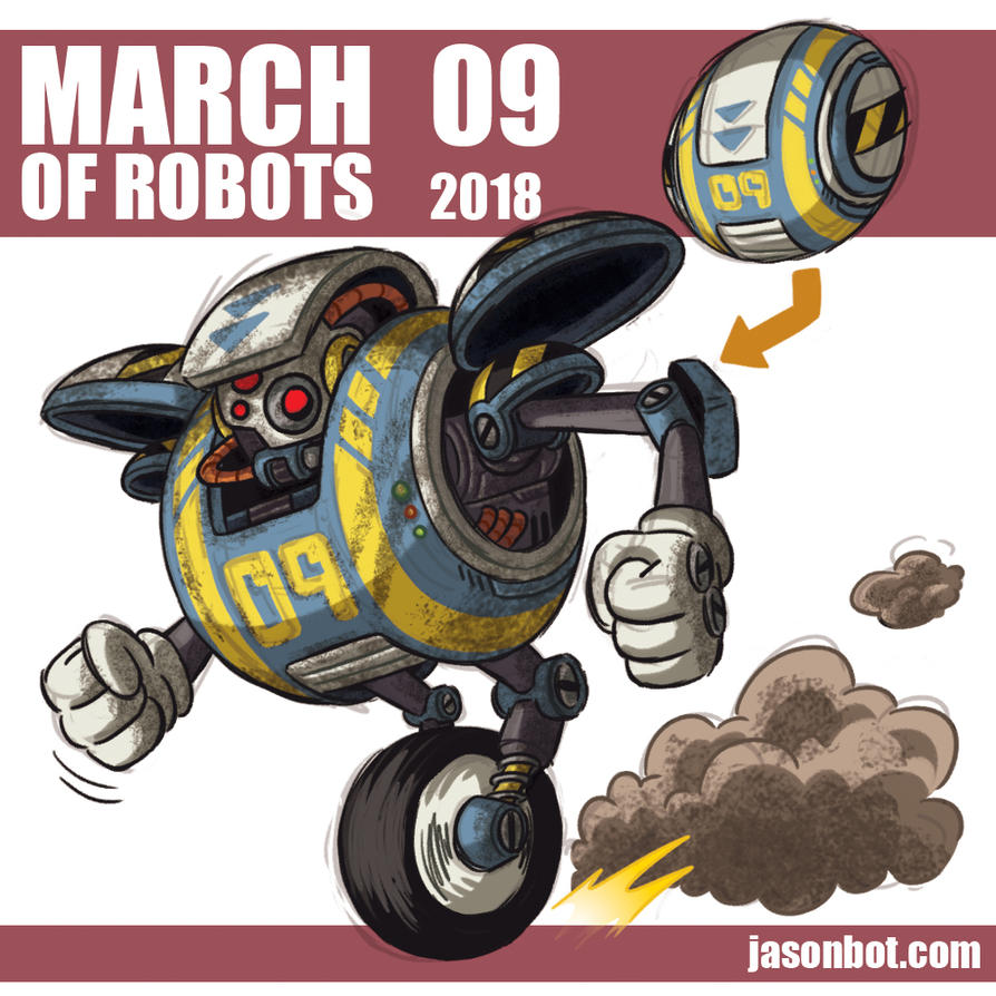 March of Robots 2018 09 by jasonhohoho