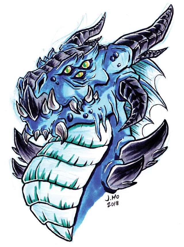 blue dragon by jasonhohoho