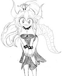 Sketchy Bowsette by BA4ever