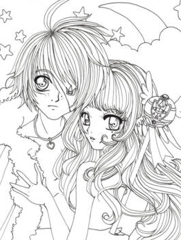 ::Lineart:: Monkeyboy and Clef