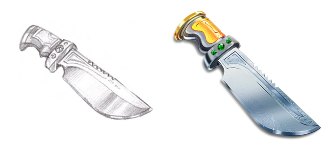 Hunting knife by artforgame