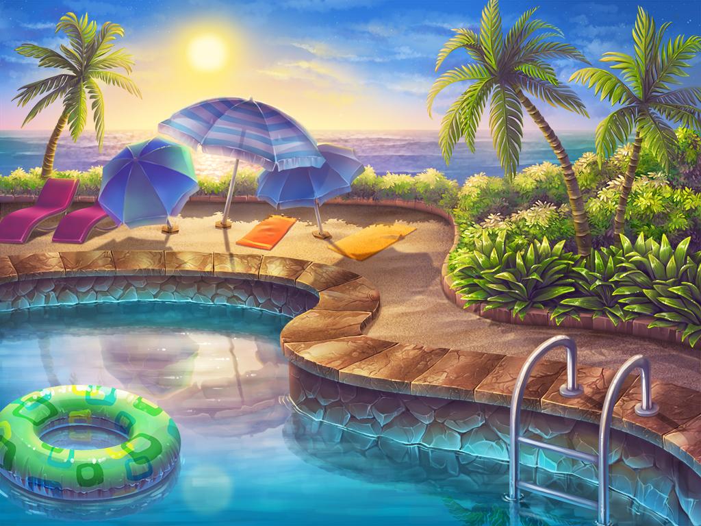 Swimming pool by artforgame