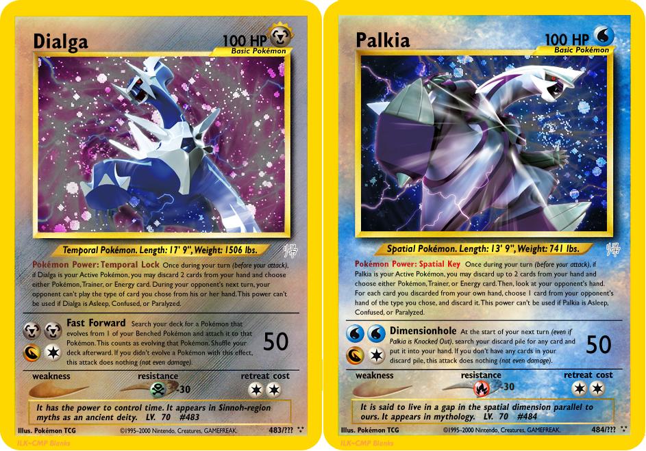 Neo Redux 483-484: DP Mascots, Dialga and Palkia by ILKCMP ...