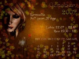 October 2009 desktop calendar by Lirulin-yirth