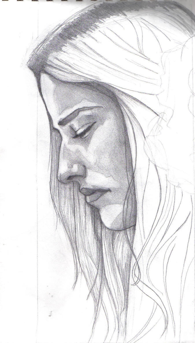 woman's profile by ghostexiled on DeviantArt Woman Side Profile Drawing