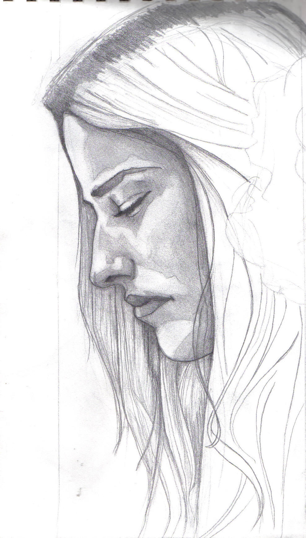 woman s profile by Woman Side Profile Drawing