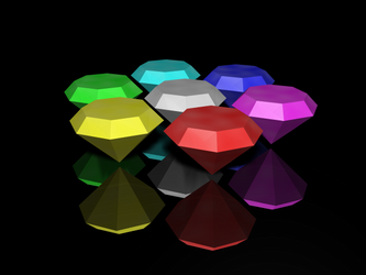 3D Chaos Emeralds by DuelMasterP