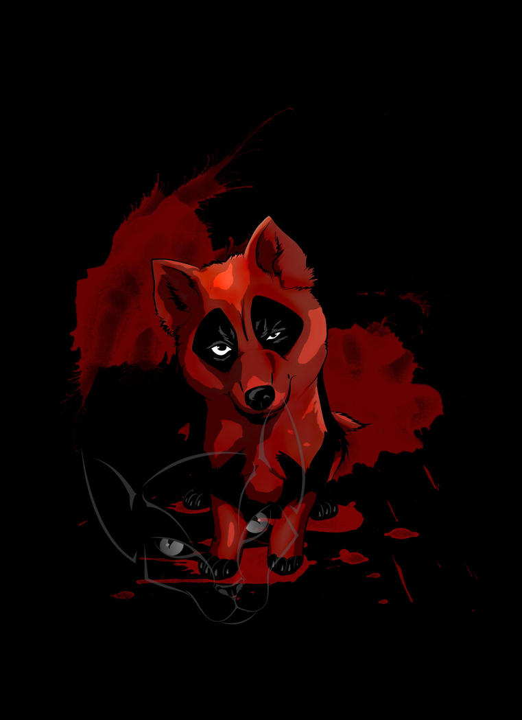 DeadPool Puppy by Tamiel-Angel