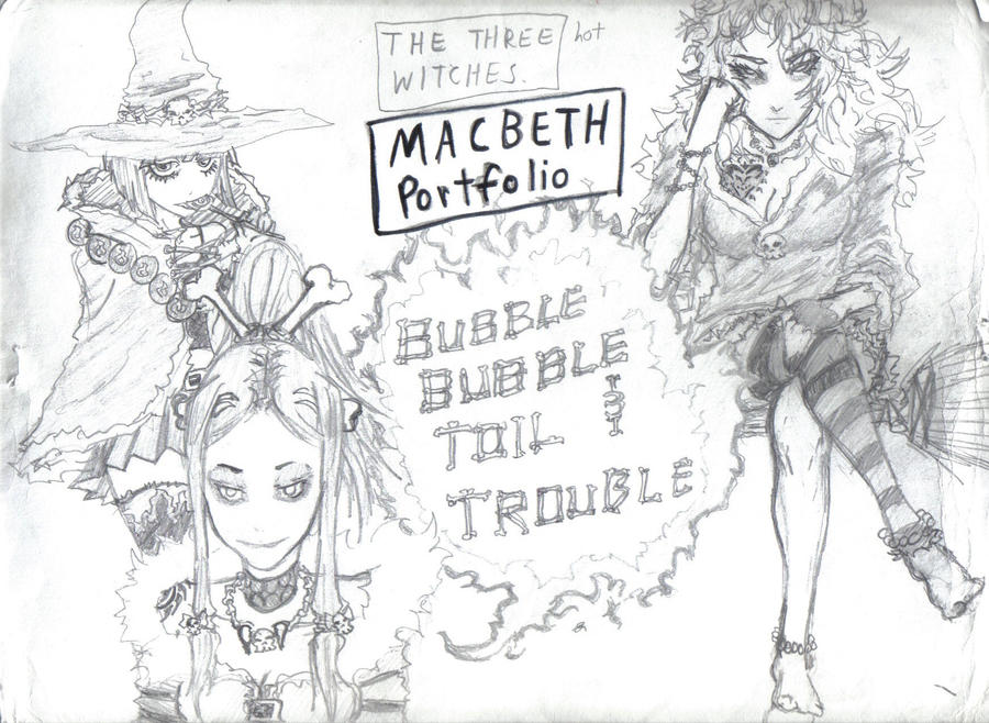 Evil Witch Drawing The Three Evil Witches by