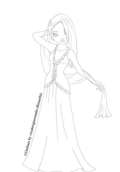 Topmodel Abendkleid Outline By Vicsdesignerstudio On