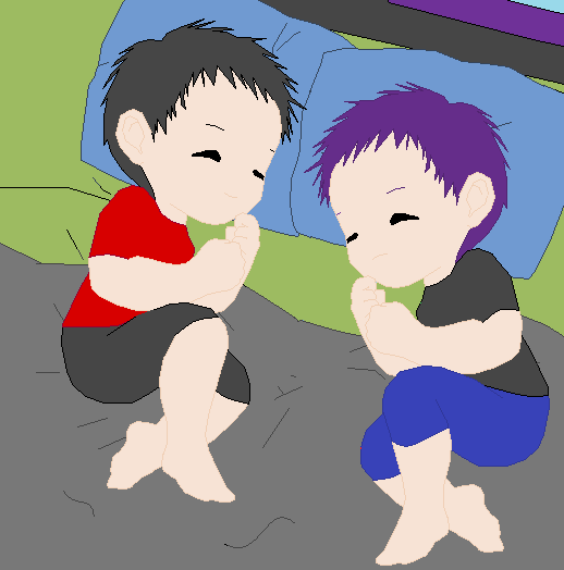 Baby Twins Mika and Kotomi by angelofcryinghearts on ...