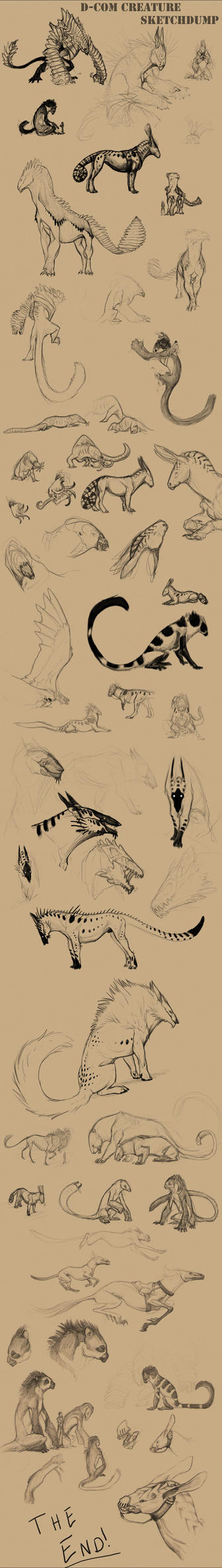 D-COM Creature Sketchdump by 86Caskin