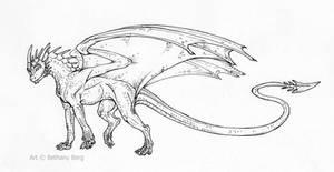 Wanna-be line art dragon by LiquidDragonN on DeviantArt