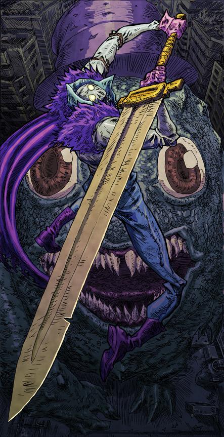 Rumble fanart by IkeWhitehead