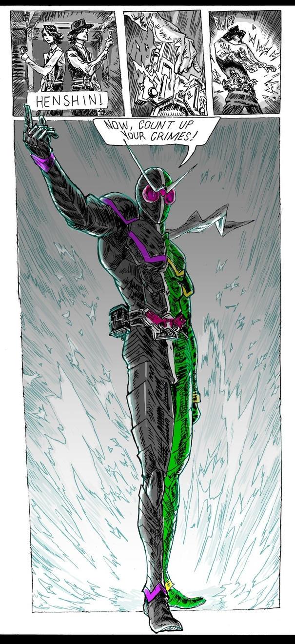 Kamen rider w fan art by IkeWhitehead