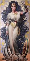 SWORD AND JUSTICE - WONDER WOMAN ART NOUVEAU