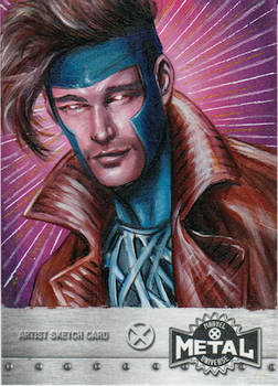 UPPER DECK X-MEN METAL SKETCH CARD - GAMBIT
