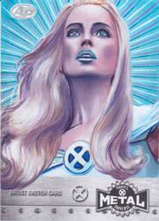 MARVEL X-MEN METAL AP SKETCH CARD - EMMA FROST