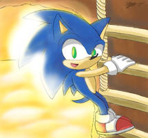 Sonic Sunset by sarahlouiseghost