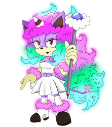 Sonic OC Cotton Candy Pony by sarahlouiseghost