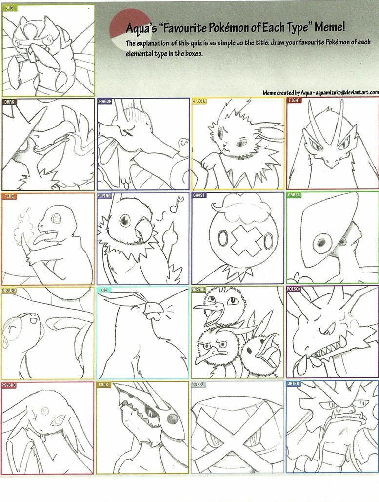 Pokemon Type Meme by Huntclaw