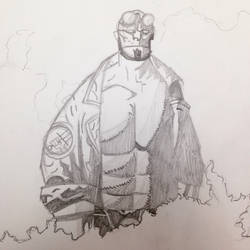 Hellboy  by Gingeralert2
