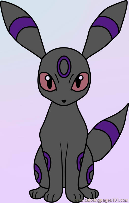 Umbreon Pokemon Coloring Page By Bloodwoof On Deviantart