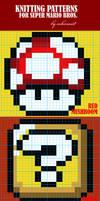 Super Mario Bros Knit Patterns by colormist