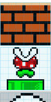 Super Mario Bros Knit Pattern2