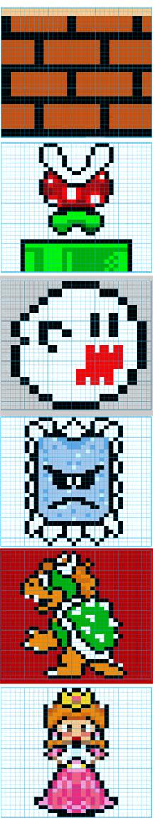 Mario Knitting Pattern : Super Mario Bros Knit Pattern2 by colormist on DeviantArt