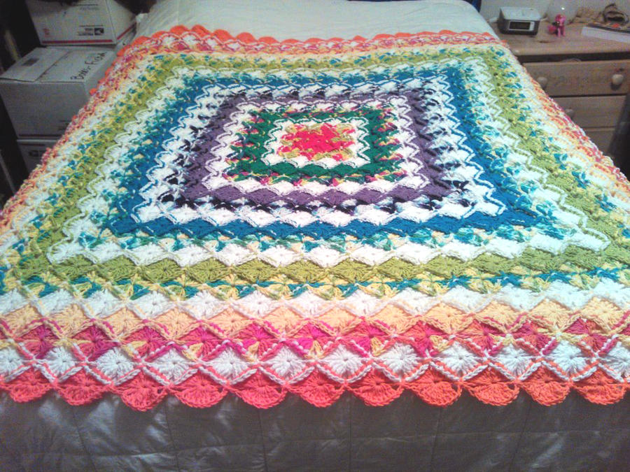 Rainbow Cotton-Eater Blanket by colormist