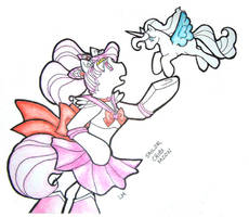 Salior Chibi Moon Pony Anthro by colormist