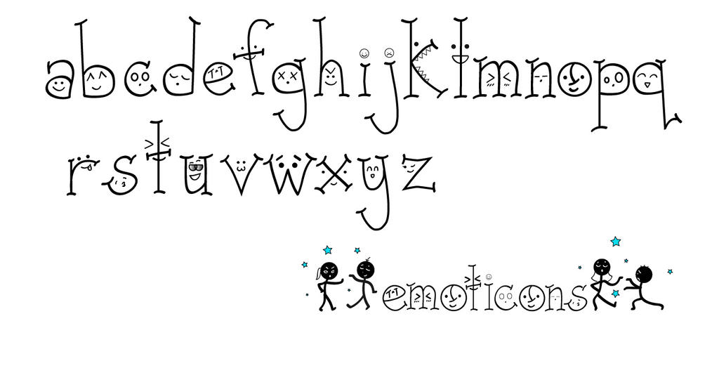 Emoticons Font by byn-bkhyn