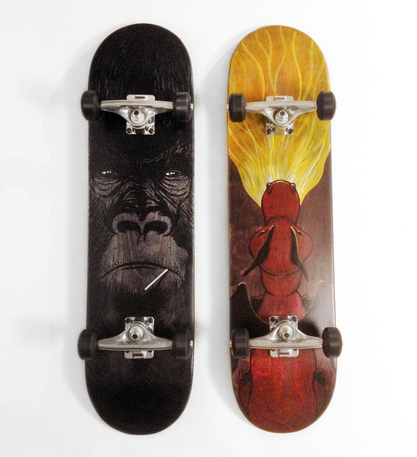 Skateboards by phillustrator