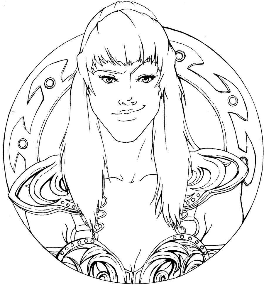 Xena warrior princess coloring pages - Xena Warrior Princess Coloring Pages Gallery