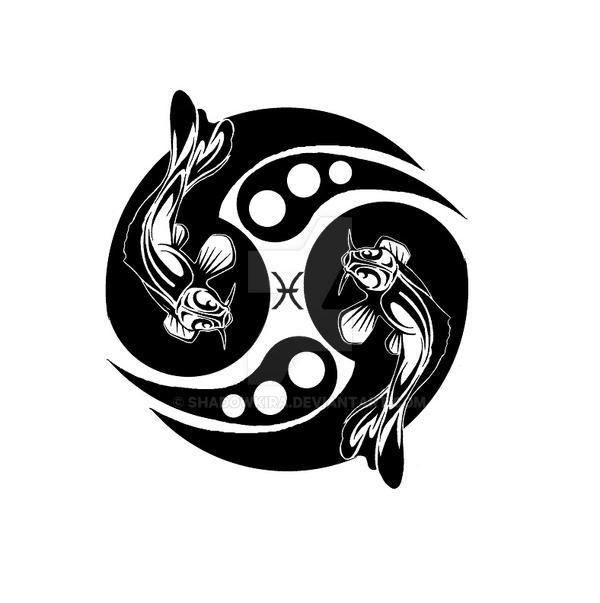 Tribal Pisces Koi Design By Shadowkira On Deviantart