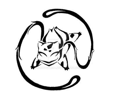 001 Tribal Bulbasaur by ShadowKira on DeviantArt
