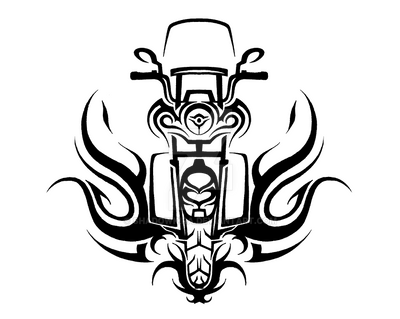 Tribal Harley Road King By Shadowkira On Deviantart