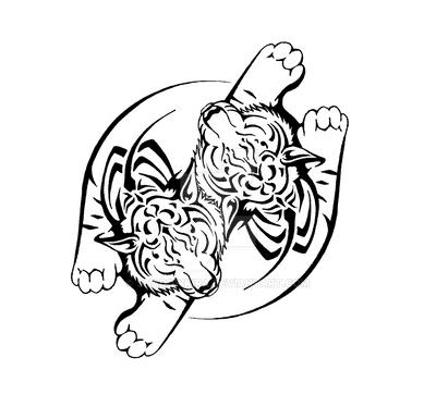 Dual Tiger Tattoo by ShadowKira