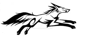 Tribal Running Fox 1