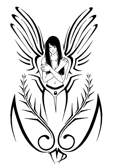 Tribal Virgo Symbol