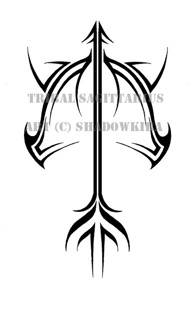 Tribal Sagittarius Design By Shadowkira On Deviantart