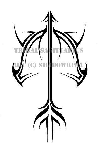 Tribal Sagittarius Design By Shadowkira On Deviantart