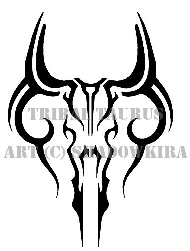 tribal taurus design by shadowkira on deviantart. Black Bedroom Furniture Sets. Home Design Ideas