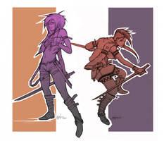 Teala and Eshelia Commisssion by NightmareGK13