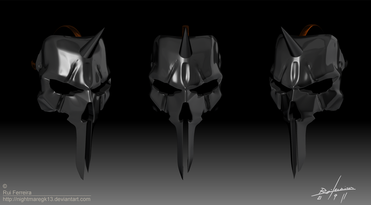 Black Knight Mask Zbrush by NightmareGK13