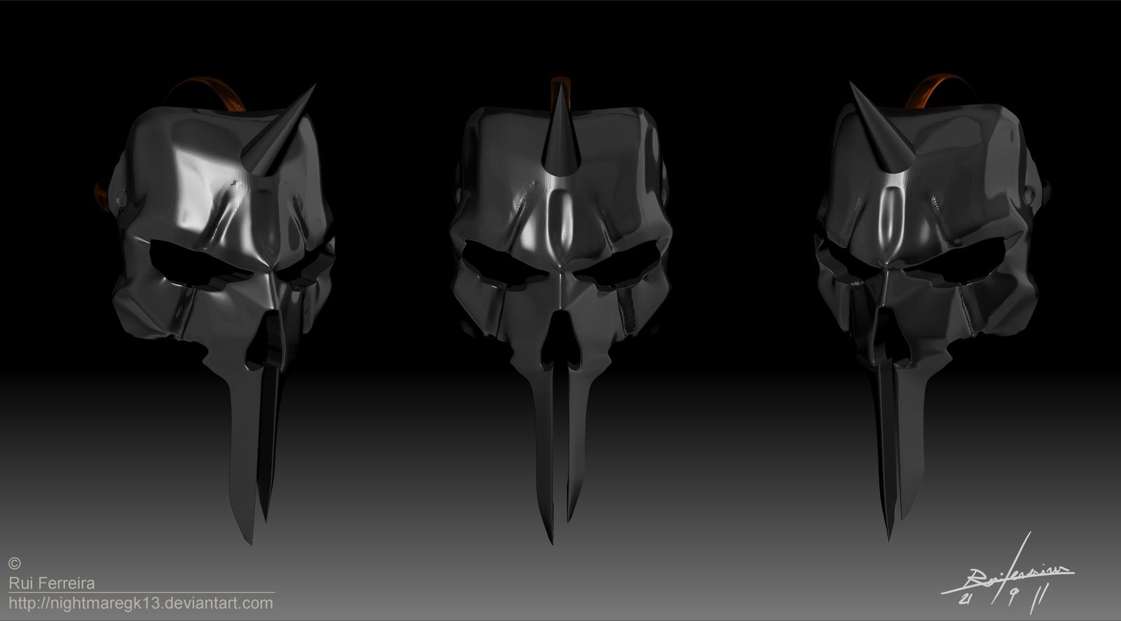 Black Knight Mask Zbrush by NightmareGK13