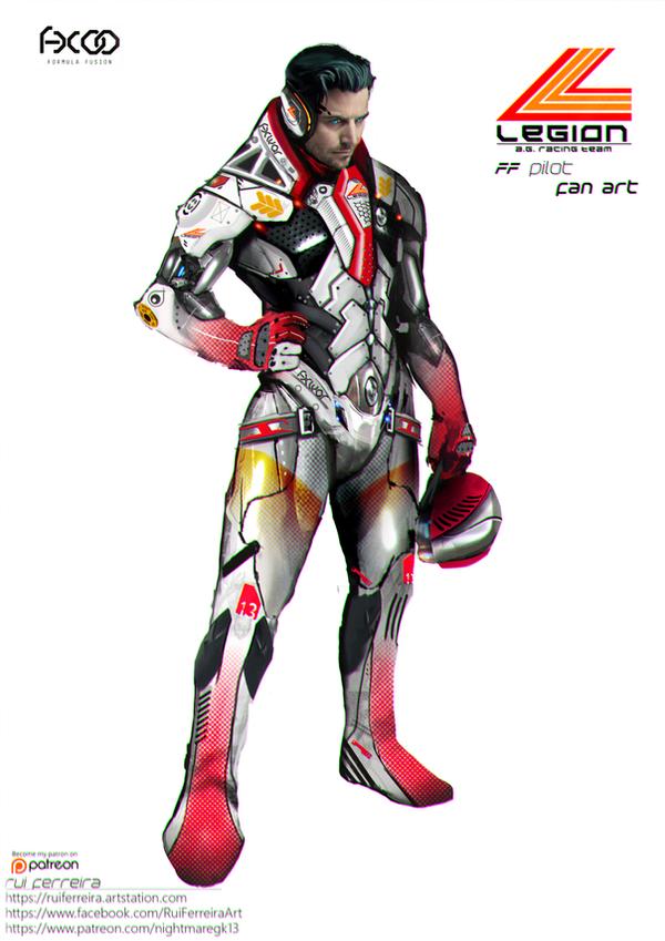 Legion Pilot - Formula Fusion Fan Art by NightmareGK13